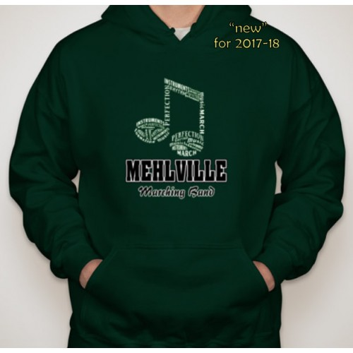 Mehlville Band Forest Green Pullover Hoodie